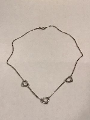 Tiffany & Co. Open Heart 3 Heart Necklace (with bag) for Sale in Seattle, WA