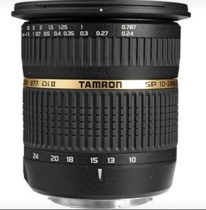Tamron SP AF 10-24mm f / 3.5-4.5 DI II Zoom Lens for Sale in New York, NY