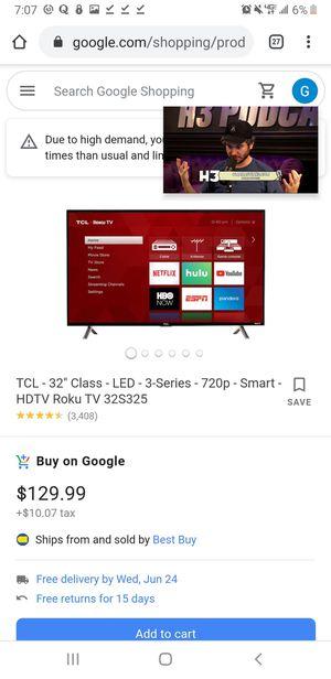 "32"" TCL ROKU Smart TV for Sale in West Sacramento, CA"