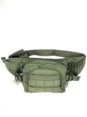 Brand NEW! Olive Green Tactical Waist/Crossbody/Side Bag/Fanny Pack/Pouch For Traveling/Work/Outdoors/Hiking/Biking/Camping/Sports/Fishing/Gym for Sale in Carson, CA