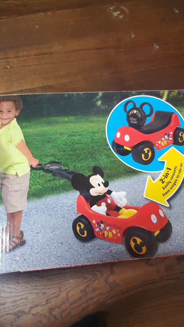 Mickey mouse kids ride on toy.