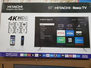 """50"""" led smart 4k ultra HDTV AVAILABLE by Hitachi WITH roku STREAMING. ENDLESS ENTERTAINMENT for Sale in Los Angeles, CA"""
