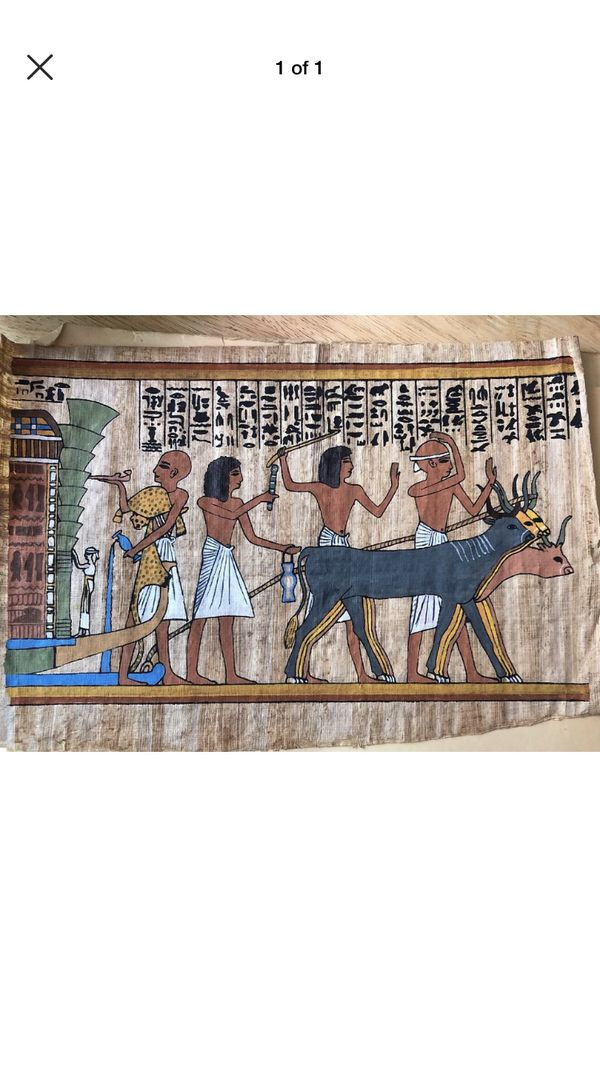 Egyptian Hand Painted Papyrus