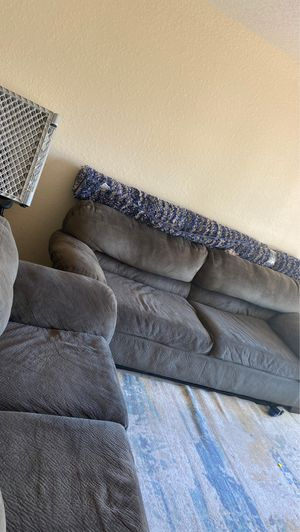Grey Couches + 8ft Rug for Sale in Winter Haven, FL