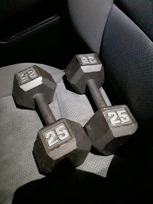 2 25 lb dumbbells hex for Sale in Orlando, FL