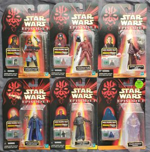 6 - Star Wars - Episode 1 - 3 3/4 Action Figure Collection for Sale in Oakdale, CA