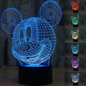 3D Mickey Mouse LED Night Light Touch Table Desk Lamp for Kids Gift, Elstey 7 Colors 3D Optical Illusion Lights for Sale in Garland, TX