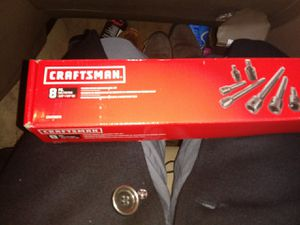 """CRAFTSMAN 8PC. 3/8""""+1/2"""" DR PINLESS IMPACT ACCESSORY TOOL SET for Sale in Seattle, WA"""