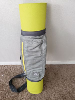 Really nice yoga mat with Manduka snap on carrier for Sale in Tempe, AZ