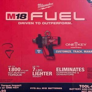 MILWAUKEE M18 FUEL CORDLESS 1in IMPACT WRENCH HIGH TORQUE TOOL ONLY for Sale in Turlock, CA