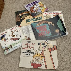 Set Of 7 Calvin and Hobbes Books for Sale in Boca Raton, FL