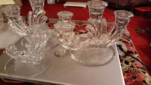 Vintage 3 piece set of Fostoria Baroque candlestick holders. for Sale in Kingsley, PA