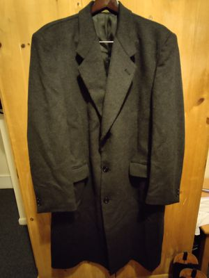 Nino Cerruti Rue Royale Black Wool/Cashmere Blend Overcoat/Top Coat Men's for Sale in Rockville, MD