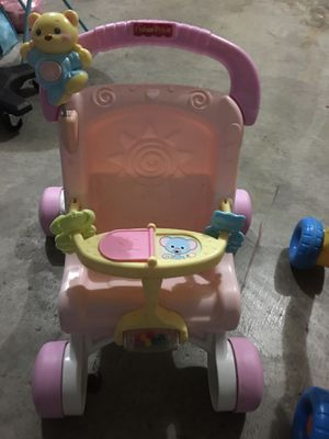 Fisher Price Baby Walker And Doll Stroller Girl Toy Toddler Play First Steps for Sale in Kent, WA