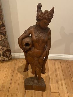 Various ANTIQUE WOODEN & BRASS SCULPTURES for Sale in Los Angeles,  CA