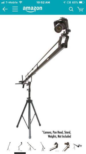 ProAm USA DVC210 Orion DSLR Video Camera Jib Crane Tilt - Aircraft Aluminum Camera Crane with Top-Mounting Bracket - Extendable Filmmaking Camera Sta for Sale in Fort Lauderdale, FL