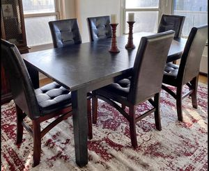 Dining table set (with extension) for Sale in Fair Lawn, NJ