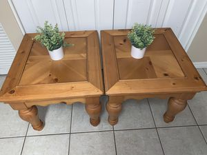 Rustic Knotty Pine end tables for Sale in Sanford, FL