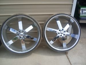 """28"""" rims and tires for Sale in Hemet, CA"""