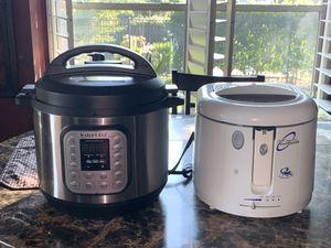 Instant Pot IP-DUO 8 quart & Presto CoolDaddy Deep Fryer for Sale in Haltom City, TX