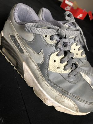 Gray youth shoes Nike size 4.5 for Sale in Pomona, CA