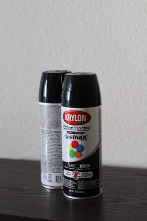 "Krylon ""Colormaster Gloss Enamel Indoor/Outdoor Paint"" - Black (x2) for Sale in Santa Cruz, CA"