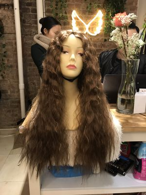 Human hair blend loose Wave Middle Part Wig for Sale in Brooklyn, NY