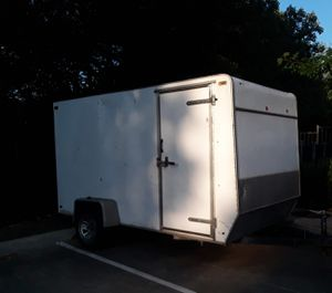 2003 HIWY/UT enclosed trailer , 12 feet + brand new spare tire, DELIVERED for Sale in McKinney, TX