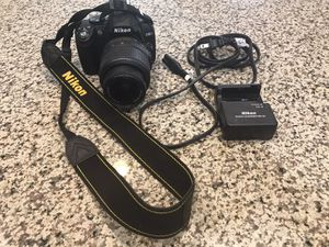 Nikon D3000 with 18–55 lens, battery and charger. for Sale in Las Vegas, NV