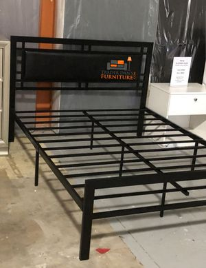 Brand New Full Size Black Metal Platform Bed Frame (White Available) for Sale in Silver Spring, MD