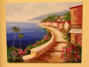 SEASIDE VILLAGE CANVAS PAINTING 🌴🌴 for Sale in Lakewood, CA