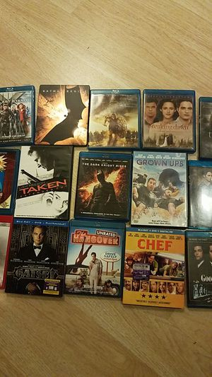 15 blu ray movies some with dvds for Sale in Lafayette, CA