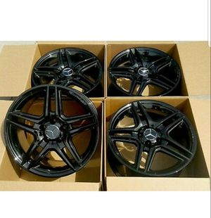 "18"" AMG MERCEDES BENZ C250 C350 E250 BLACK 18 AMG OEM WHEELS RIMS FACTORY for Sale in Long Beach, CA"