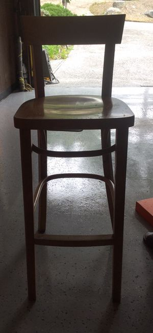 IKEA bar stool with back rest for Sale in Bellevue, WA