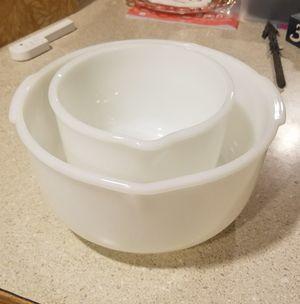 Sunbeam Fire King Milk Glass Mixing bowls for Sale in Everett, WA