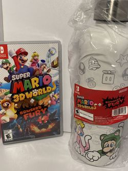 Super Mario 3D World + Boswer's Fury & water bottle for Sale in Pompano Beach,  FL