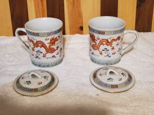 Tea cups with lids. for Sale in Monmouth, OR