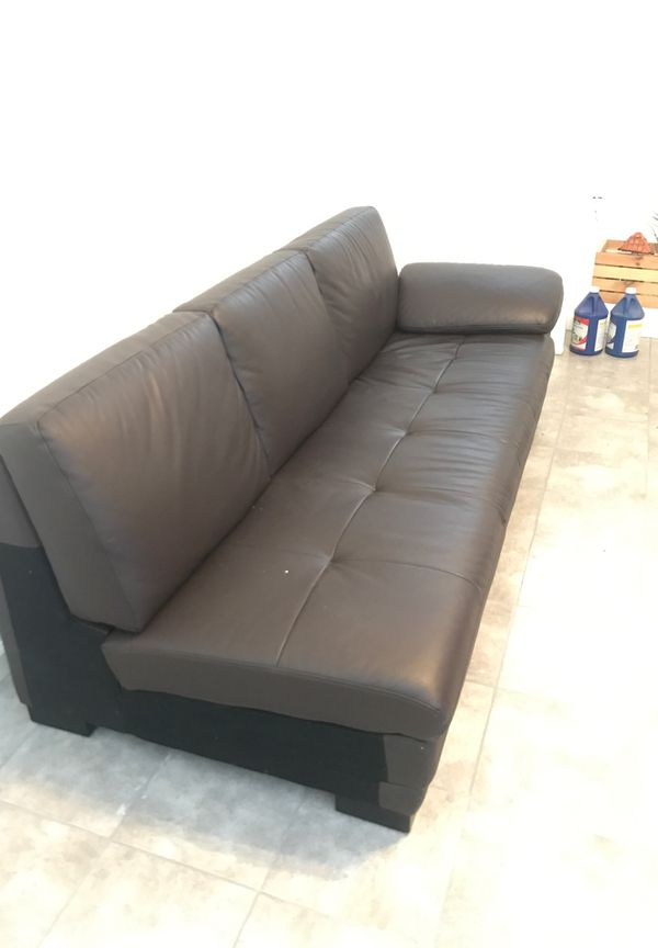 Brown leather futon great condition $120