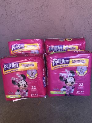 Huggies pull ups 3-4T lot of 4 for Sale in Burbank, CA