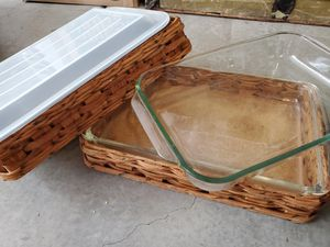 Cooking containers pyrex basket 3 for Sale in Oceanside, CA