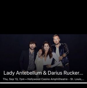 Lady Antebellum 2 tickets $40 total for Sale in St. Louis, MO