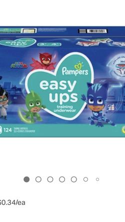 Pampers Easy Ups 3T-4T (6) 62 Count Packages Unopened PJ Masks Thomas The Train for Sale in Dickinson,  TX