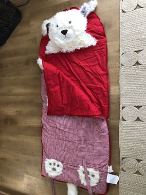 Pottery Barn kids sleeping bag red for Sale in Redlands, CA