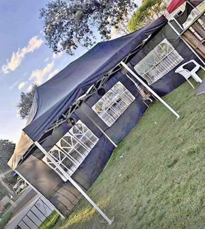 🎉🎉🎉10x20ft Pop Up Canopy Tent with Side Walls Available in BLACK-BLUE-WHITE🎉🎉🎉 for Sale in Pomona, CA