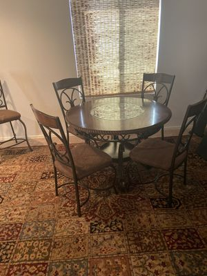 Dining table with 2 matching bar height stools for Sale in Phoenix, AZ