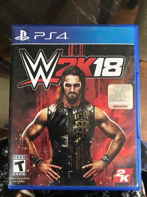 WWE: 2K18 PS4 for Sale in Bridgeport, CT