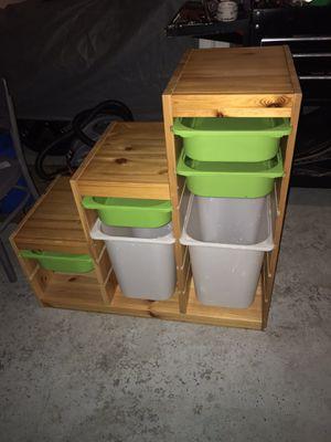 Ikea trofast step storage with bins for Sale in Everett, WA
