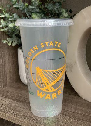 Warriors glitter Venti Starbucks cup for Sale in Gilroy, CA