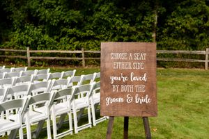 Wedding ceremony seating sign for Sale in Kent, WA