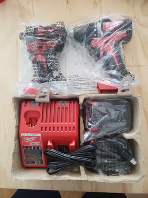 Milwaukee 2892-22CTPO M18 18-Volt Lithium-Ion Brushless Cordless Drill/Impact for Sale in Coral Gables, FL